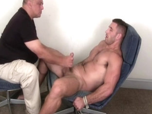 Anthony: Handsome & straight hunk gets a handjob