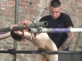 Submissive twink dommed and assfucked by sexy inked stud