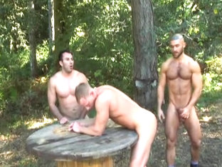Forest Three-way: JR Matthews, Niko Francois Sagat
