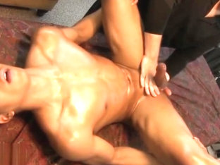 Prostate Massage Young Guy Squirt His Load