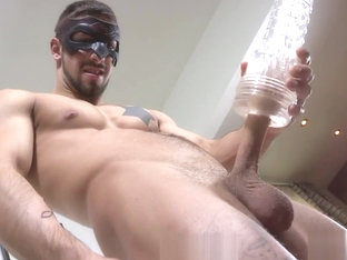 Maskurbate - Fit & Tatted Hunk Fucks Various Sex Toys To Orgasm