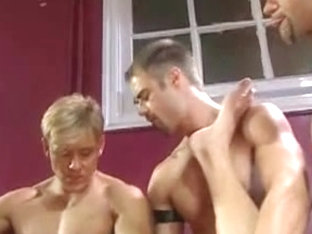 Leather Gay Threesome