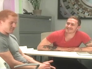 Hunky gay redhead sucked and fucked by hottie