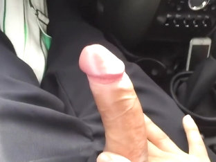 Straight friend's car, finally he touchedmy dick...