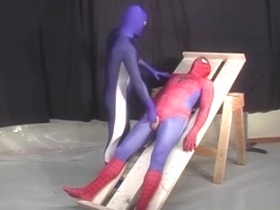 Spiderman is captured by a gay hero
