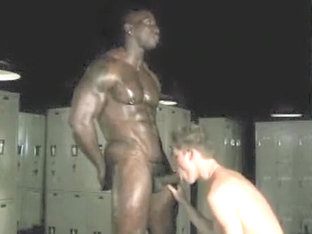 Incredible male in hottest interracial, big dick homo porn clip