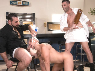 Domination Diner featuring Jaxton Wheeler, Lance Hart, Eli Hunter - FistingCentral