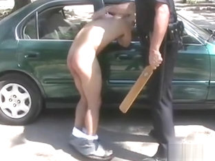 Police Officer Spanks Two Adult Men