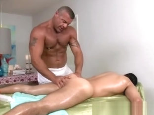Massage with intimate licking contacts