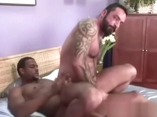 Virgin white butt takes black cock for first time