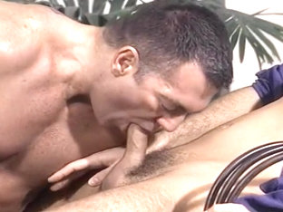 Awesome Threeway Gay Anal Penetration