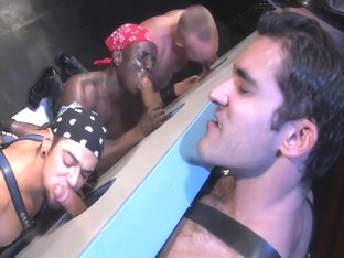 Antonio Biaggi buddies use a gloryhole