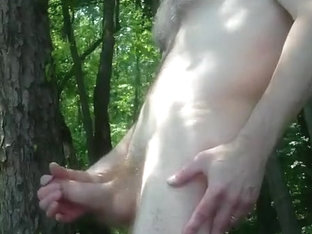Cumming in the Public Park