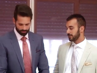 Gay sex at the office