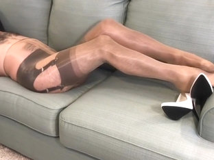 Nylon Layers Cum Shot