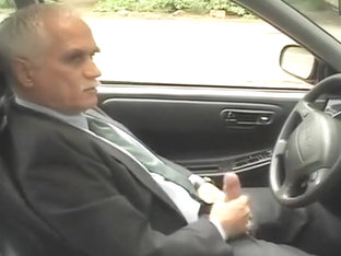 Michael jerks off in car