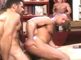 Horny male in amazing hunks, bears homosexual porn clip