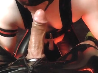 submissive rubber blowjob