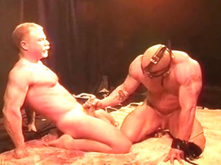 Shotgun Bodybuilder Bondage and Domination