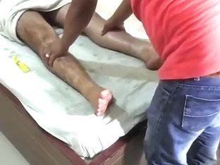 hairy indian getting massage
