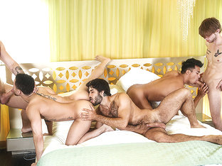 Beaux Banks & Dalton Briggs & Diego Sans & JJ Knight & Ken Ott in The Heist Part 3 - MenNetwork