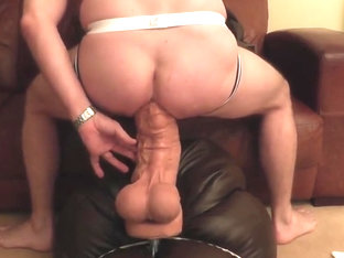 15inch Monster Dildo up my tight ass