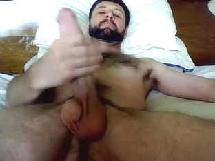 Big Arab long dick cums