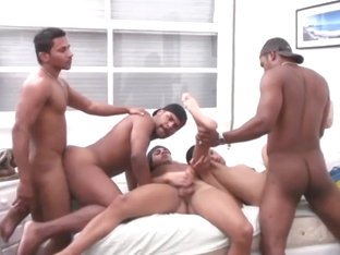Bunch of Beefy Brazilians get it on!