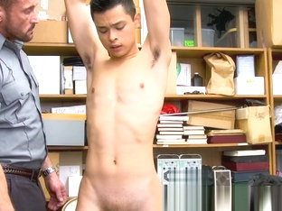 Asian shoplifter jizzing