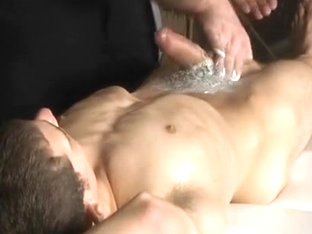 youthful twink shaved by older and blown