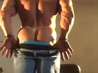 Str8 angry daddy bodybuilder stroke