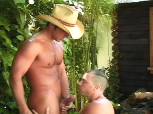 Giddy Up! Bath Time For Cum Cowboys