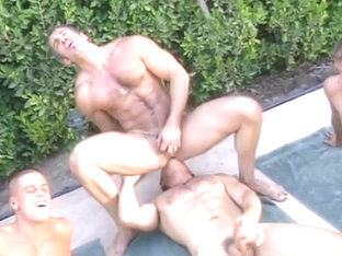 Colton Ford 3 buddies play sex games