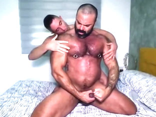 Rough Sweaty Sex With Big Bodybuilder Daddy