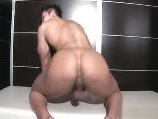 Japanese Muscle Hunk Play with Toys