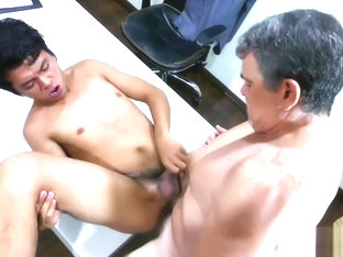 Daddy and Asian Twink George Fuck