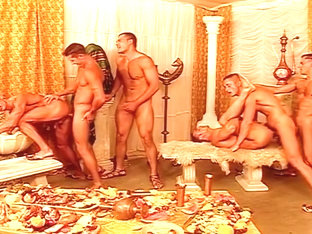Arabian Dinner Turns To All Guy Fuckfest