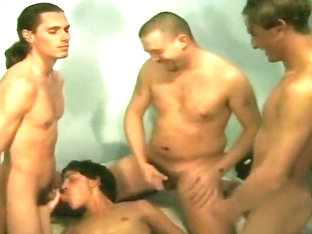 Sexy Italian Gay Guys in Foursome