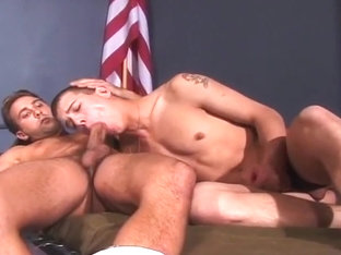Young Cadet Anal Drilled In Dorm Room