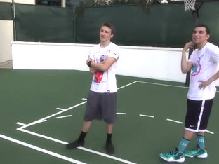 Austin Mahone Shirtless Playing Basketball