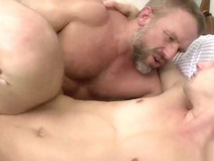 Stud assfucked by older guy until cum