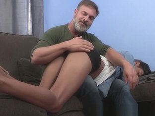 Bearded stepdad with glasses ass fucks young Latin twink