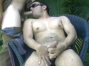 Two Dudes Sucking On Each Others Dicks Outside