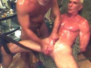 oiled, cuffed, cbt, stroked tdick