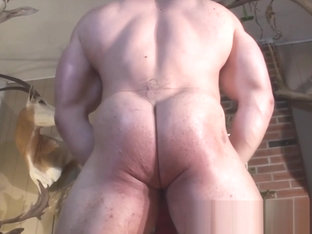 Big Max Merry Muscle Christmas show his ass