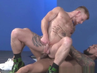 RagingStallion Monster Cock Fucks Redhead