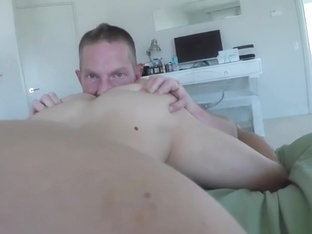 Muscular Daddy Fucking His Boy Toy With His Thick Hard Cock