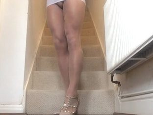 White micro mini skirt.
