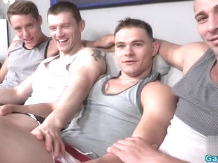 Muscle gay foot fetish with facial