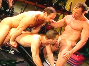 Eric Evans and Brent Baines - makeout, fuck dildo then threesome